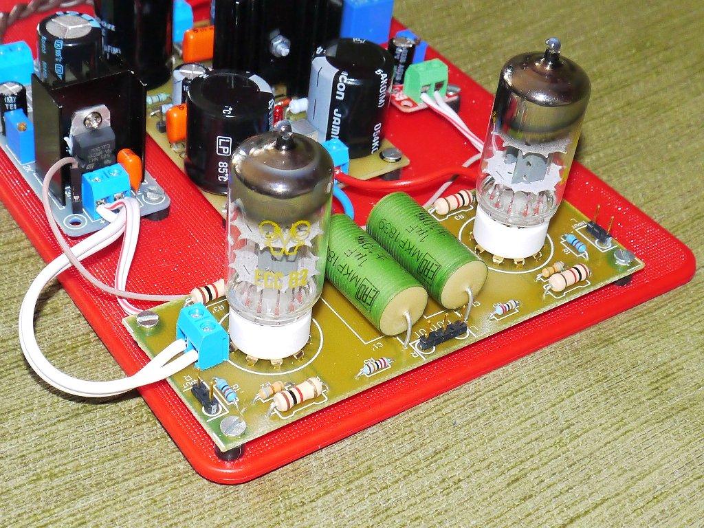 Sprzedam DIY SRPP tube amplifier for ECC82 - fully assembled +
